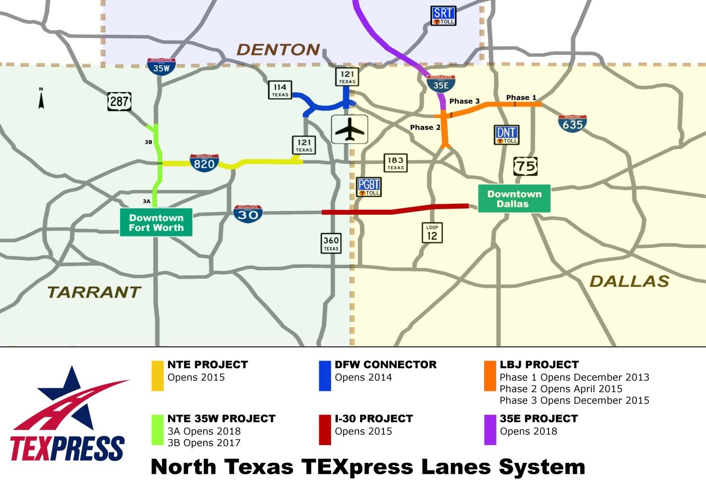 Dallas Traffic Map on